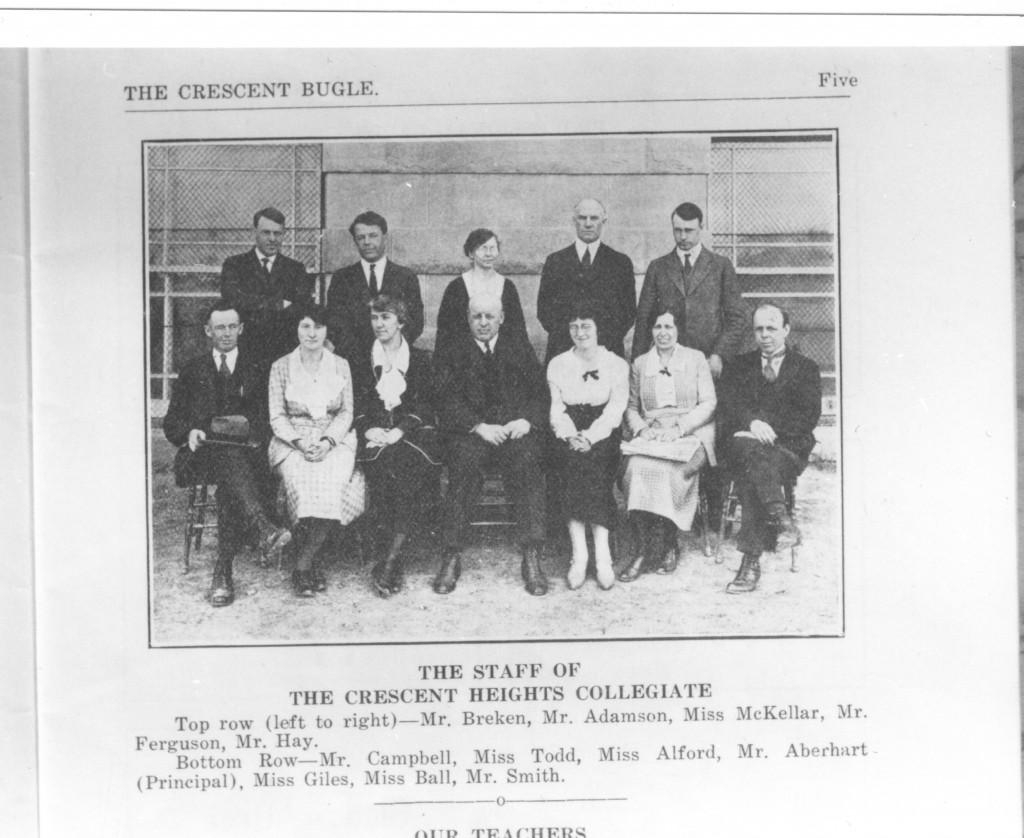 teaching staff 1923